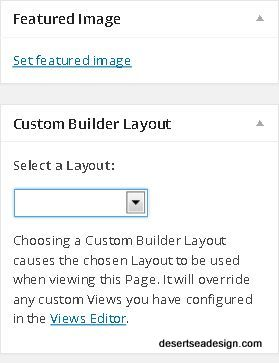 feature image builder layout
