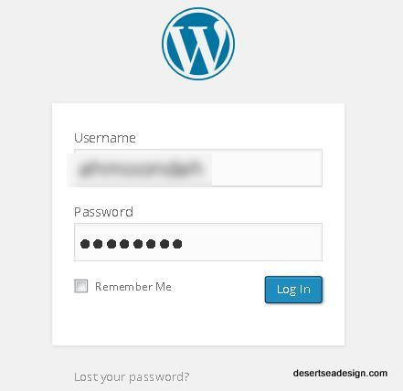 login to wp